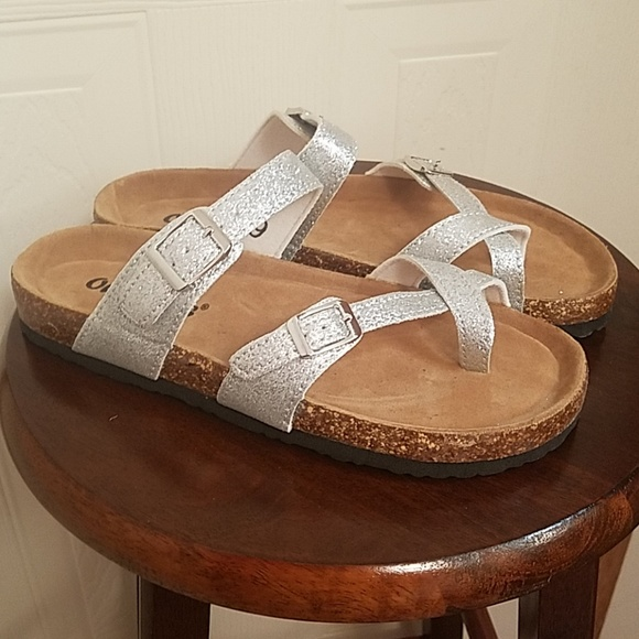 ee766030395 Silver sparkly sandals